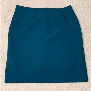 Ellen Tracy teal skirt